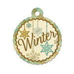 We R Memory Keepers - Merry January Collection - Embossed Tags - Winter, CLEARANCE