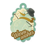 We R Memory Keepers - Merry January Collection - Embossed Tags - Warm Wishes