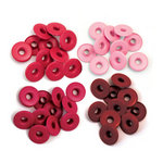 We R Memory Keepers - Eyelets - Wide - Red