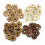 We R Memory Keepers - Eyelets - Wide - Brown