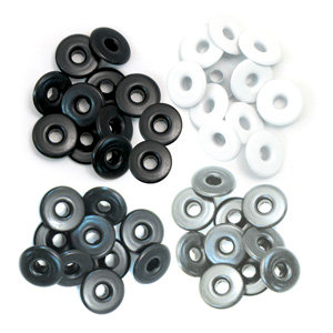 We R Memory Keepers - Eyelets - Wide - Grey