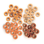 We R Memory Keepers - Eyelets - Standard - Glitter - Orange
