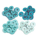 We R Memory Keepers - Eyelets - Wide - Glitter - Aqua