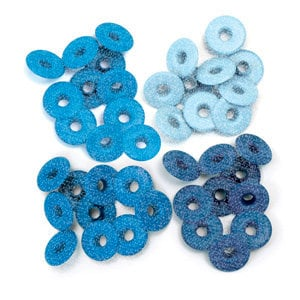 We R Memory Keepers - Eyelets - Wide - Glitter - Blue