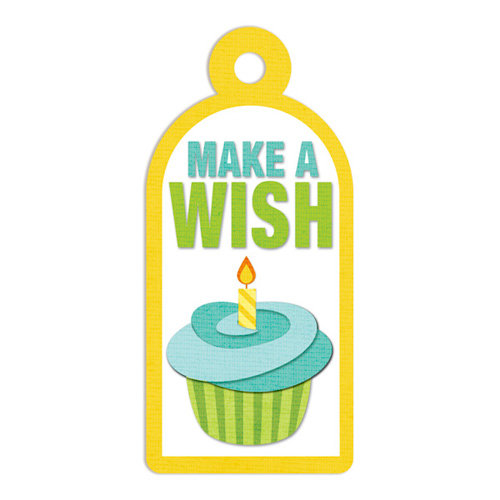 We R Memory Keepers - Embossed Tags - Make A Wish