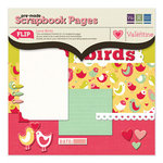 We R Memory Keepers - Be My Valentine Collection - 12 x 12 Pre-made Scrapbook Pages - Love Birds