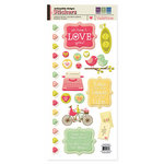 We R Memory Keepers - Be My Valentine Collection - Embossed Cardstock Stickers