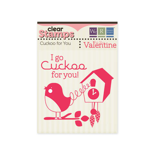 We R Memory Keepers - Be My Valentine Collection - Clear Acrylic Stamps - Cuckoo for You