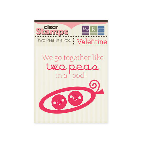 We R Memory Keepers - Be My Valentine Collection - Clear Acrylic Stamps - Two Peas In a Pod