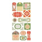 We R Memory Keepers - Family Keepsake Collection - Self Adhesive Layered Chipboard with Glitter Accents - Tags