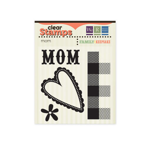 We R Memory Keepers - Family Keepsake Collection - Clear Acrylic Stamps - Mom