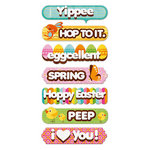 We R Memory Keepers - Peep Collection - Easter - Self Adhesive Layered Chipboard with Flocked Accents - Words, BRAND NEW