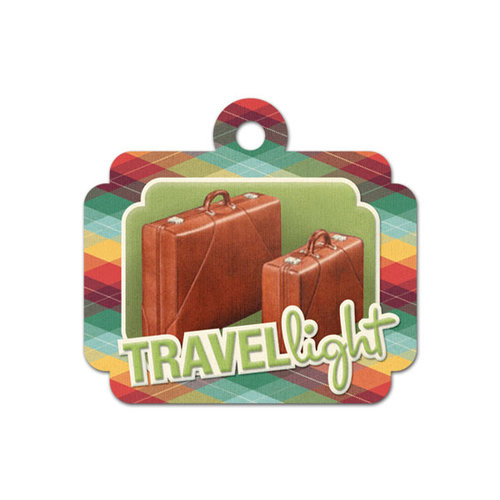 We R Memory Keepers - Travel Light Collection - Embossed Tags - Travel Light
