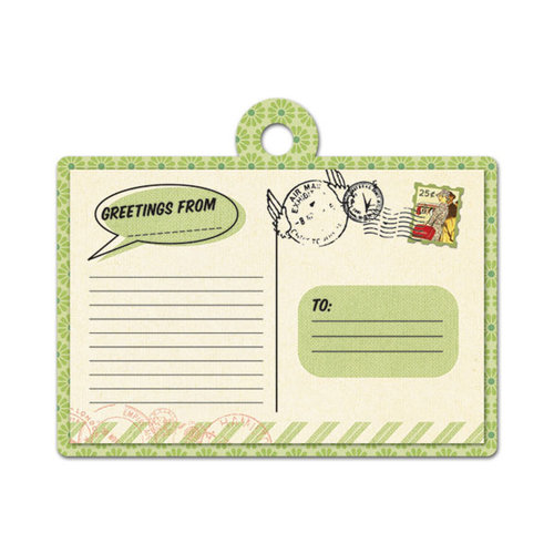 We R Memory Keepers - Travel Light Collection - Embossed Tags - Greetings From