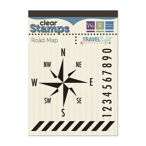 We R Memory Keepers - Travel Light Collection - Clear Acrylic Stamps - Road Map