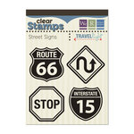 We R Memory Keepers - Travel Light Collection - Clear Acrylic Stamps - Street Signs