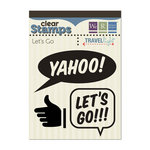We R Memory Keepers - Travel Light Collection - Clear Acrylic Stamps - Let's Go