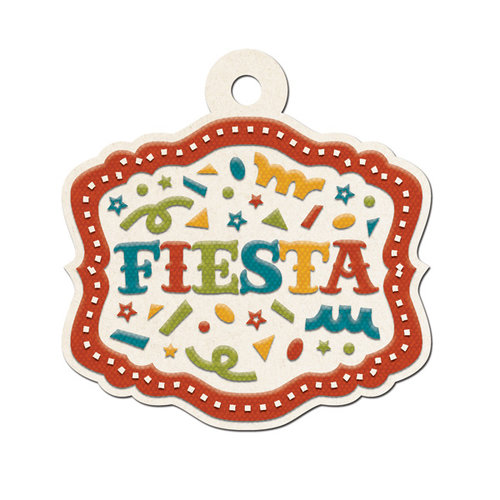 We R Memory Keepers - Fiesta Collection - Embossed Tags - Fiesta