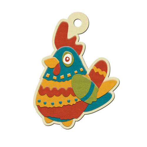 We R Memory Keepers - Fiesta Collection - Embossed Tags - Pollo
