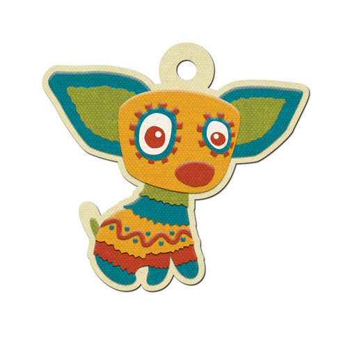 We R Memory Keepers - Fiesta Collection - Embossed Tags - Chico