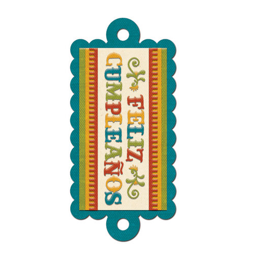 We R Memory Keepers - Fiesta Collection - Embossed Tags - Cumpleanos