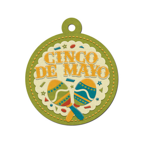 We R Memory Keepers - Fiesta Collection - Embossed Tags - Cinco de Mayo