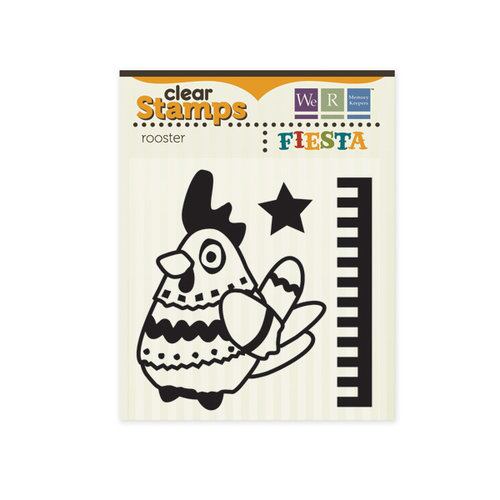 We R Memory Keepers - Fiesta Collection - Clear Acrylic Stamps - Rooster
