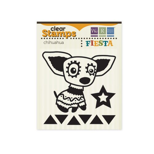 We R Memory Keepers - Fiesta Collection - Clear Acrylic Stamps - Chihuahua