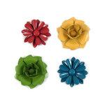 We R Memory Keepers - Fiesta Collection - Brads - Metal Flowers