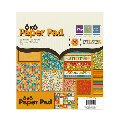We R Memory Keepers - Fiesta Collection - 6 x 6 Paper Pad