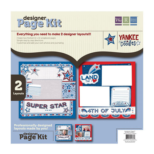 We R Memory Keepers - Yankee Doodles Collection - 12 x 12 Designer Page Kit