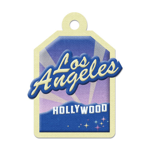 We R Memory Keepers - Destination Collection - Embossed Tags - Los Angeles