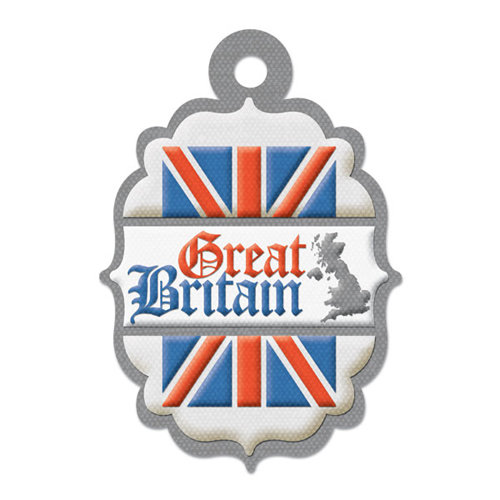 We R Memory Keepers - Destination Collection - Embossed Tags - Great Britain