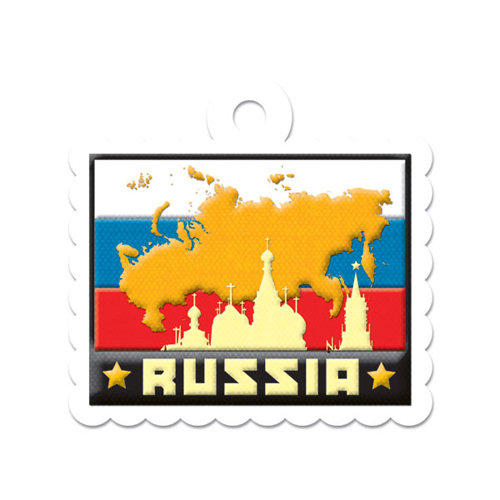 We R Memory Keepers - Destination Collection - Embossed Tags - Russia