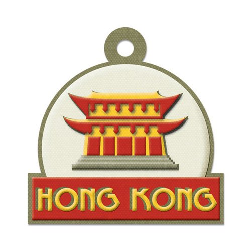 We R Memory Keepers - Destination Collection - Embossed Tags - Hong Kong