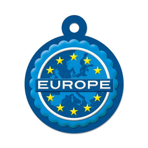 We R Memory Keepers - Destination Collection - Embossed Tags - Europe
