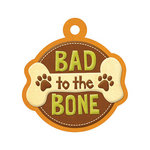 We R Memory Keepers - Friends Furever Collection - Embossed Tags - Bad to the Bone