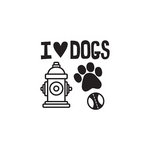 We R Memory Keepers - Friends Furever Collection - Clear Acrylic Stamps - I Heart Dogs