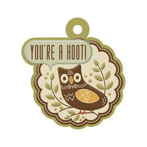 We R Memory Keepers - Autumn Splendor Collection - Embossed Tags - You're a Hoot