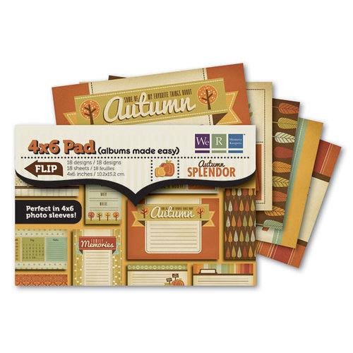 We R Memory Keepers - Autumn Splendor Collection - 4 x 6 Albums Made Easy Pad