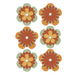 We R Memory Keepers - Autumn Splendor Collection - Printed Flower and Brad Pack