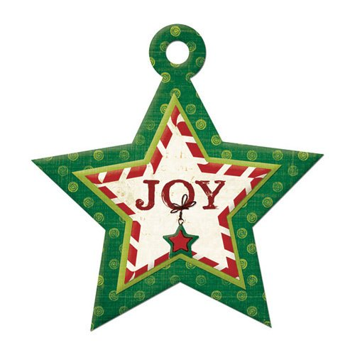 We R Memory Keepers - Peppermint Twist Collection - Christmas - Embossed Tags - Joy