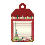 We R Memory Keepers - Peppermint Twist Collection - Christmas - Embossed Tags - Dear Santa