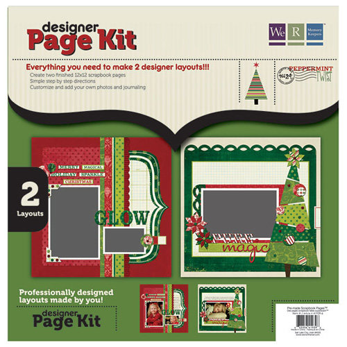 We R Memory Keepers - Peppermint Twist Collection - Christmas - 12 x 12 Designer Page Kit