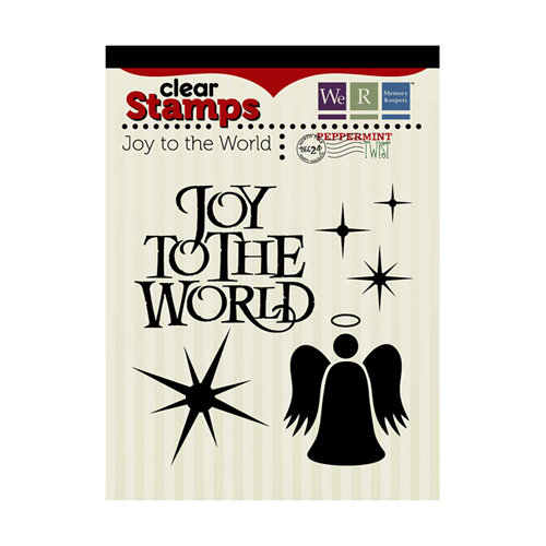 We R Memory Keepers - Peppermint Twist Collection - Christmas - Clear Acrylic Stamps - Joy To The World
