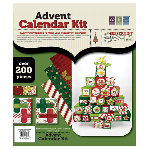 We R Memory Keepers - Peppermint Twist Collection - Christmas - Advent Calendar Kit