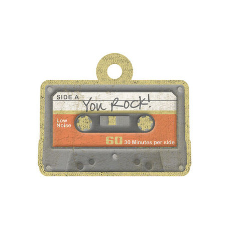 We R Memory Keepers - Vintage T Collection - Embossed Tags - You Rock