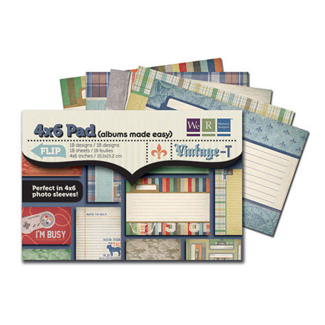 We R Memory Keepers - Vintage T Collection - 4 x 6 Albums Made Easy Pad