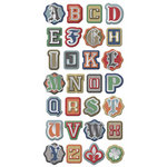 We R Memory Keepers - Vintage T Collection - Self Adhesive Layered Chipboard with Foil Accents - Words