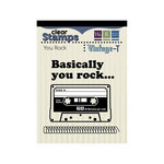 We R Memory Keepers - Vintage T Collection - Clear Acrylic Stamps - You Rock